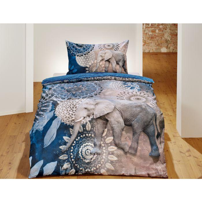Linge de lit avec motif d'éléphant et de mandala