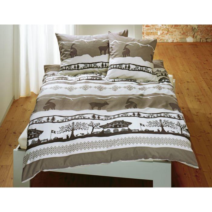 Bettwäsche mit Alpenmotiv