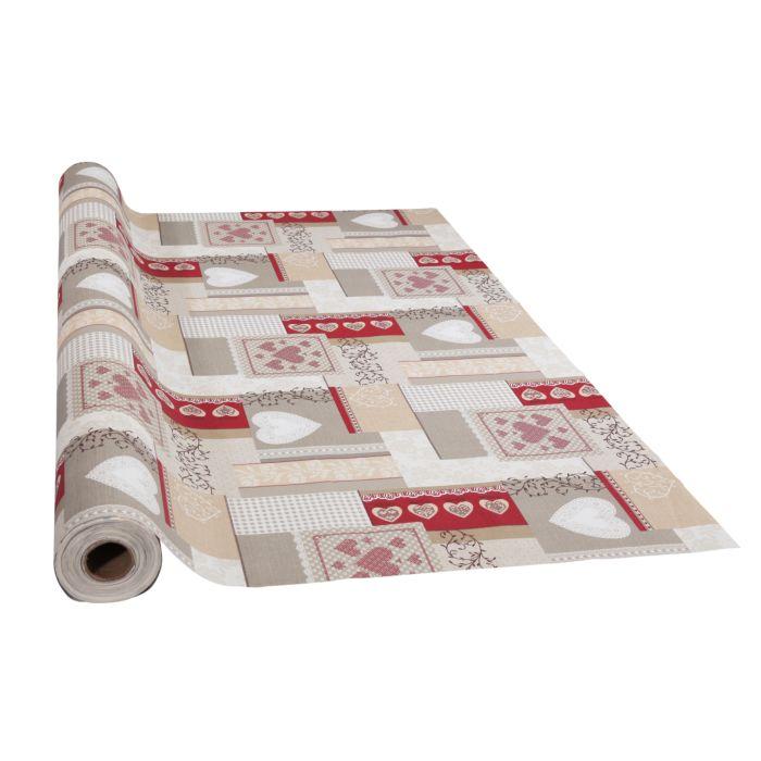 Acryl-Tischdecke mit Herzen und Rank-Ornamenten