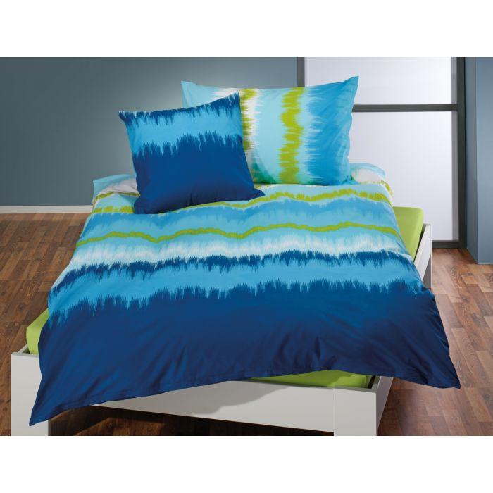 Parure de lit en dégradé bleu-turquoise