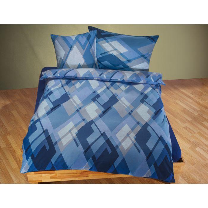 Bettwäsche mit Mosaik-Muster in Blautönen