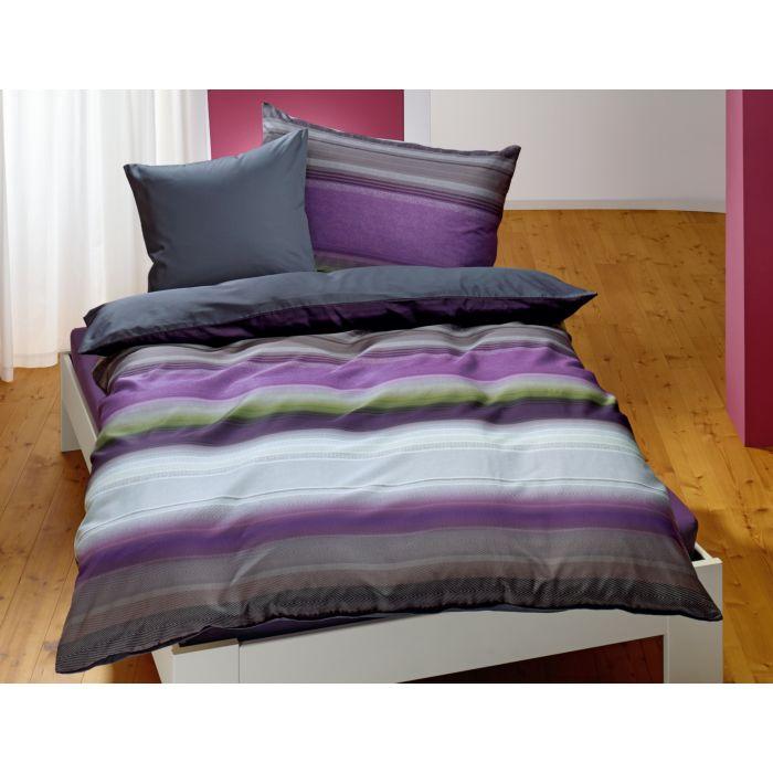 Bettwäsche mit breiten Querstreifen
