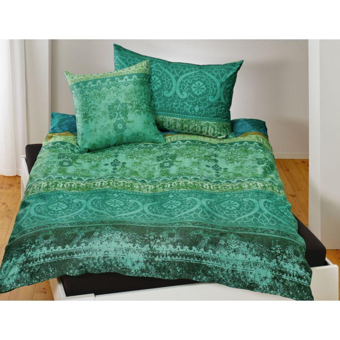 Satin Bettwäsche mit indischem Muster