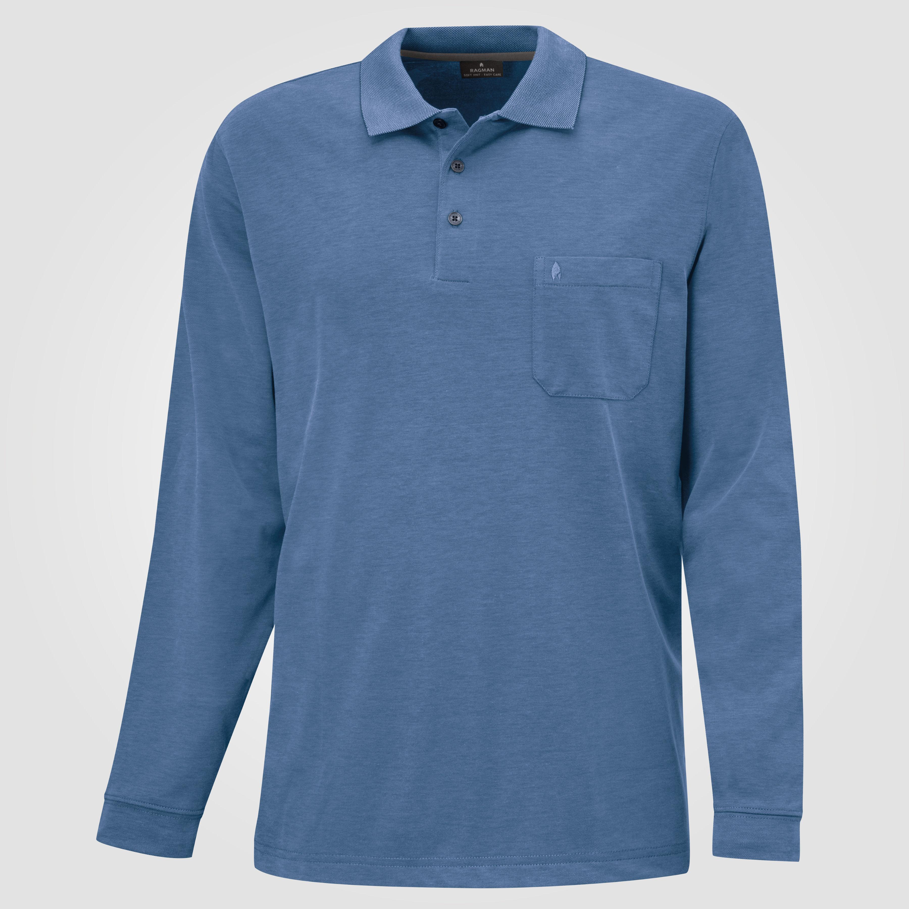langlebig im einsatz modernes Design günstigen preis genießen Ragman Herren-Poloshirt langarm uni