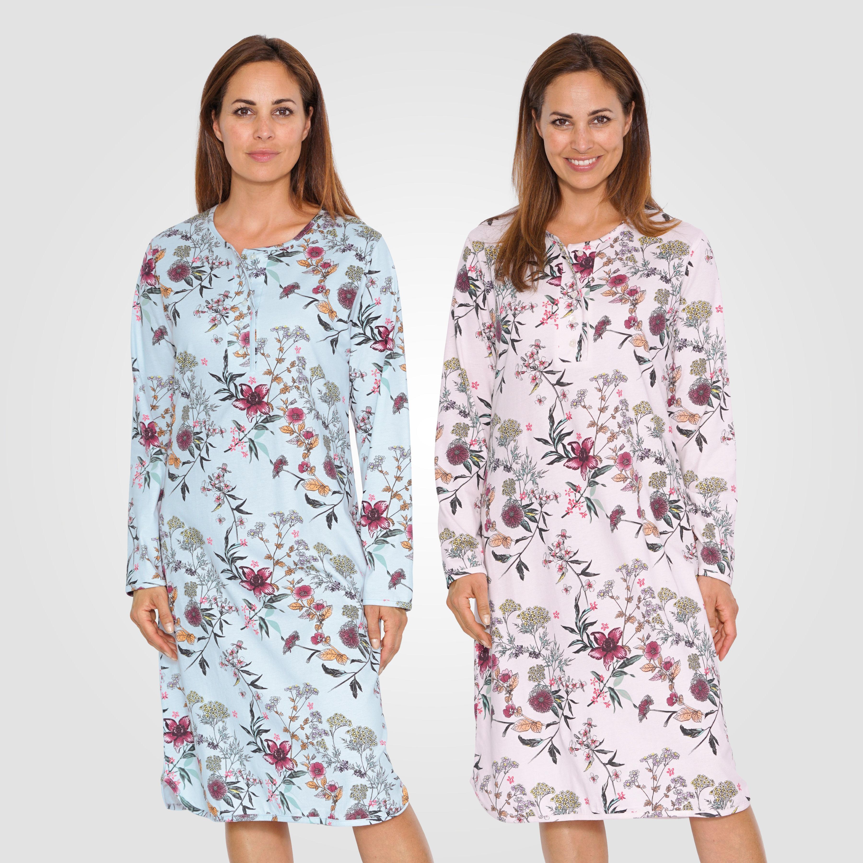516954d5485471 Nachthemd mit Blumenprint für Damen günstig ⋆ Lehner Versand