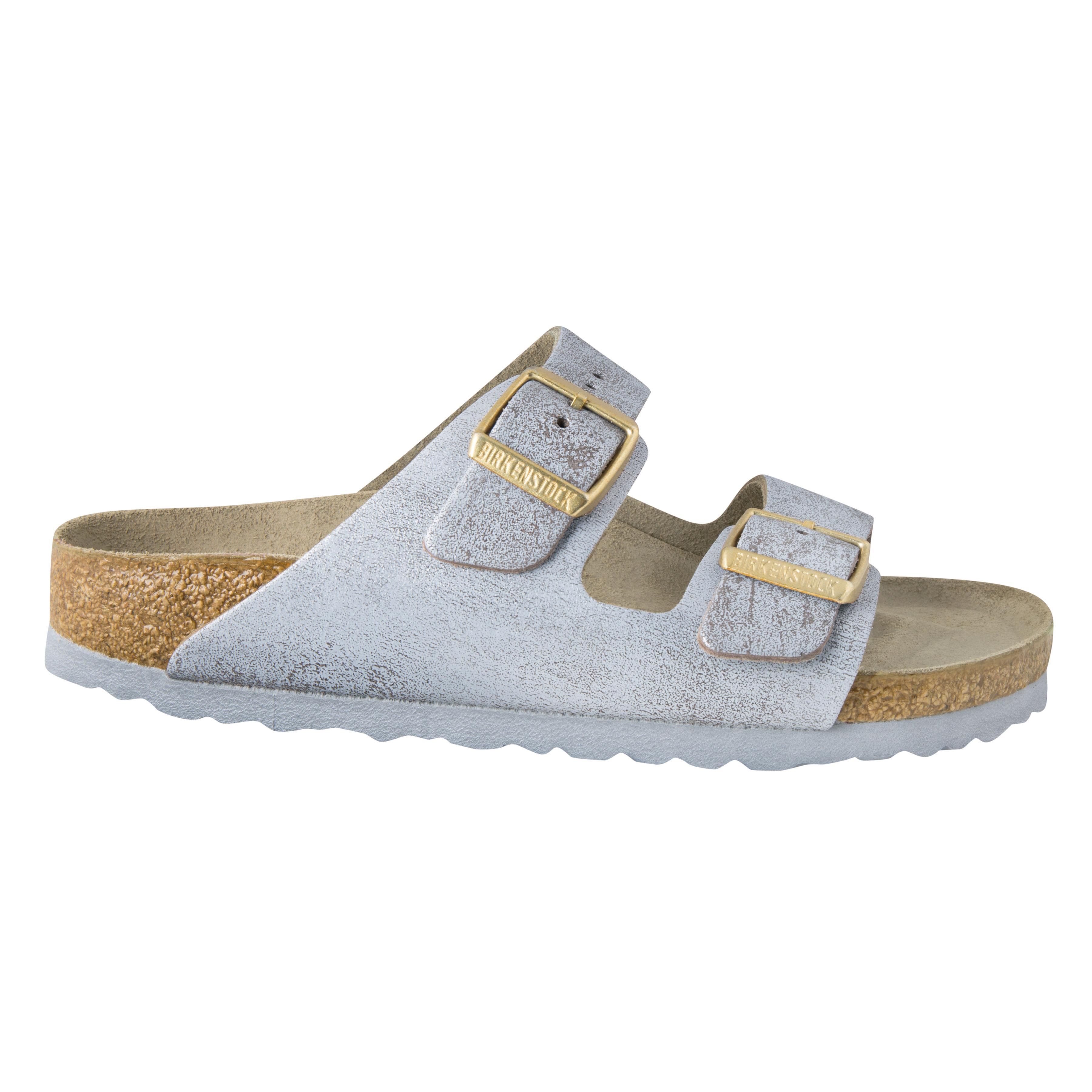 birkenstock arizona pantolette beige metallic