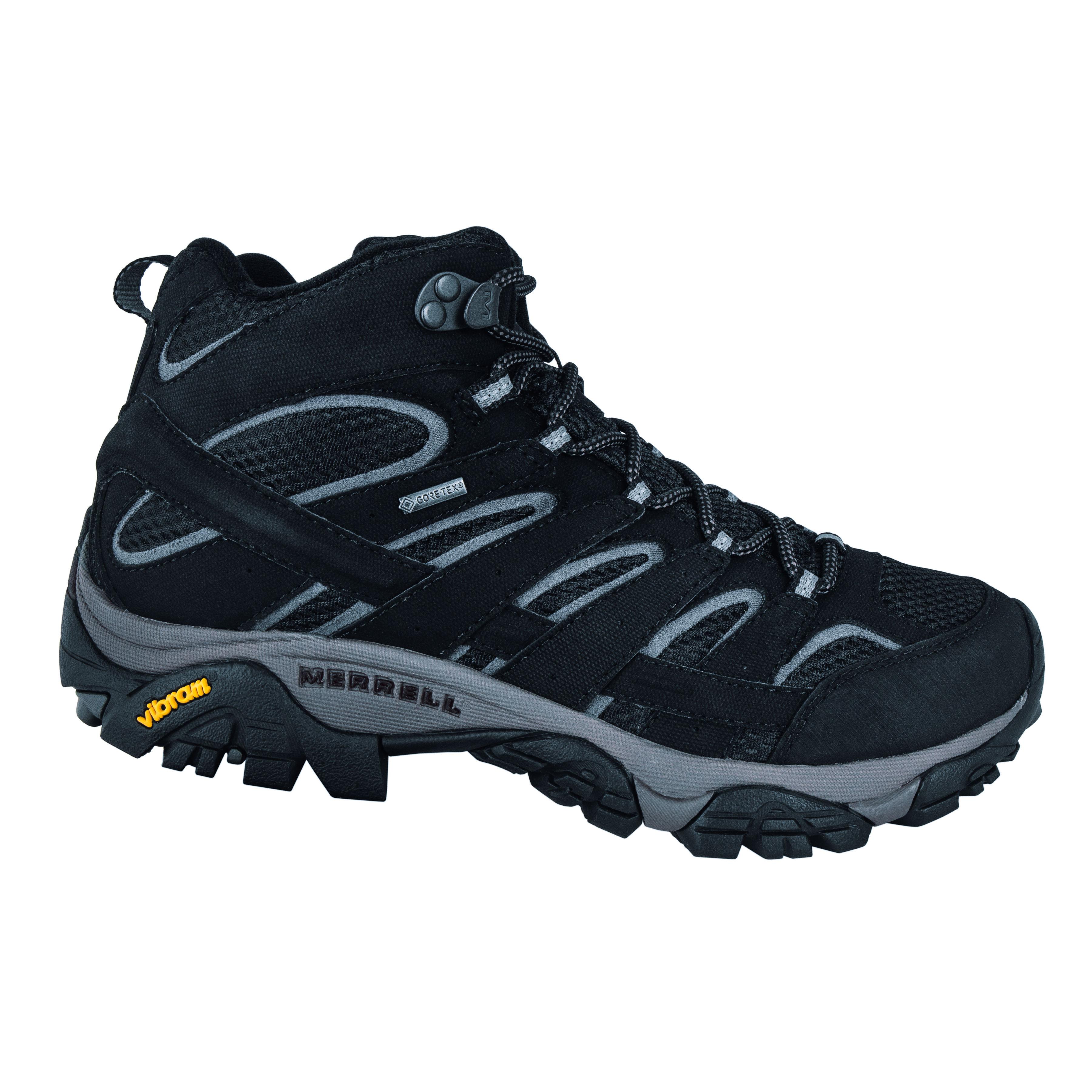 meilleur site web style exquis 100% de qualité Chaussure à lacer Merrell Moab MId GTX hommes noir