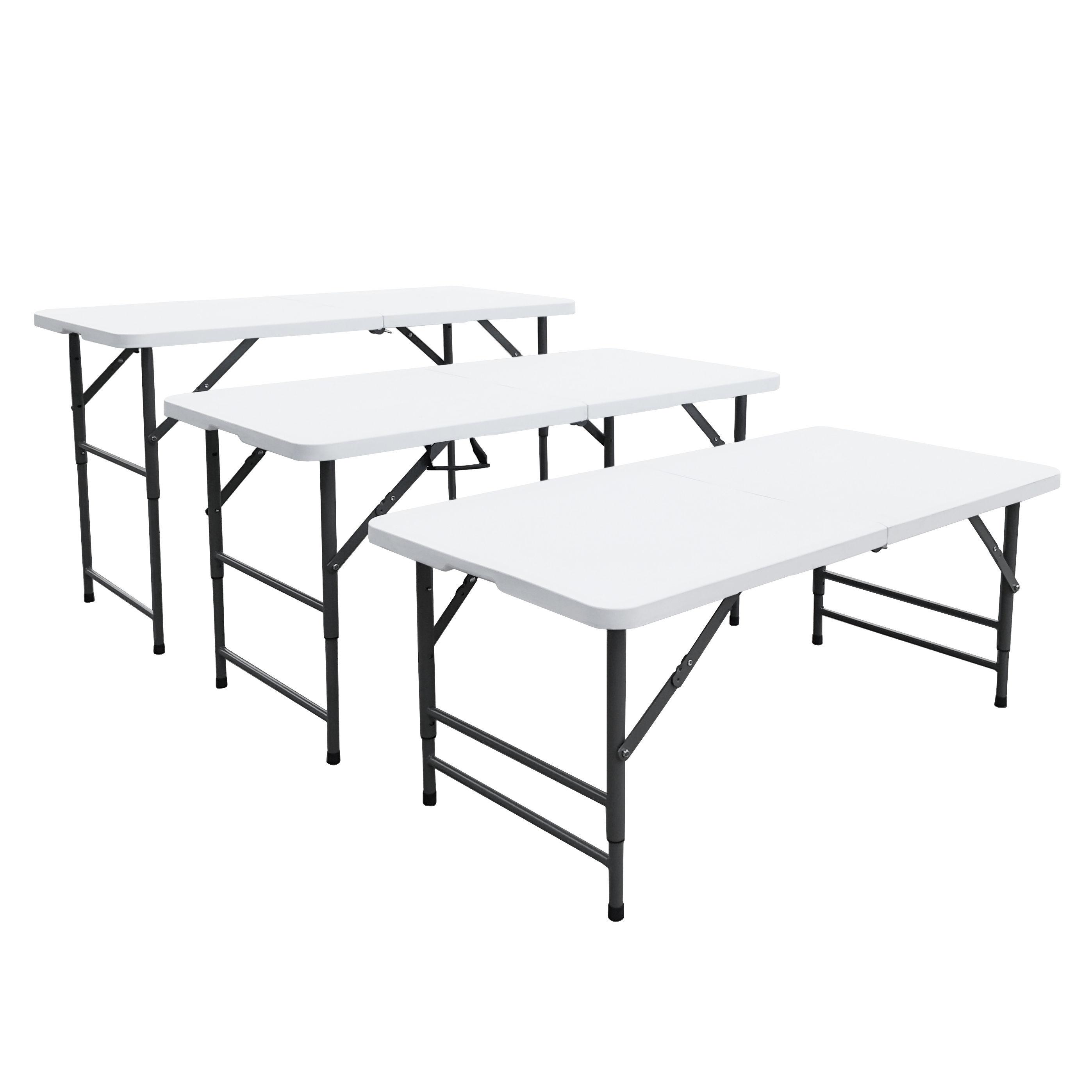 Table pliante à 3 hauteurs réglables