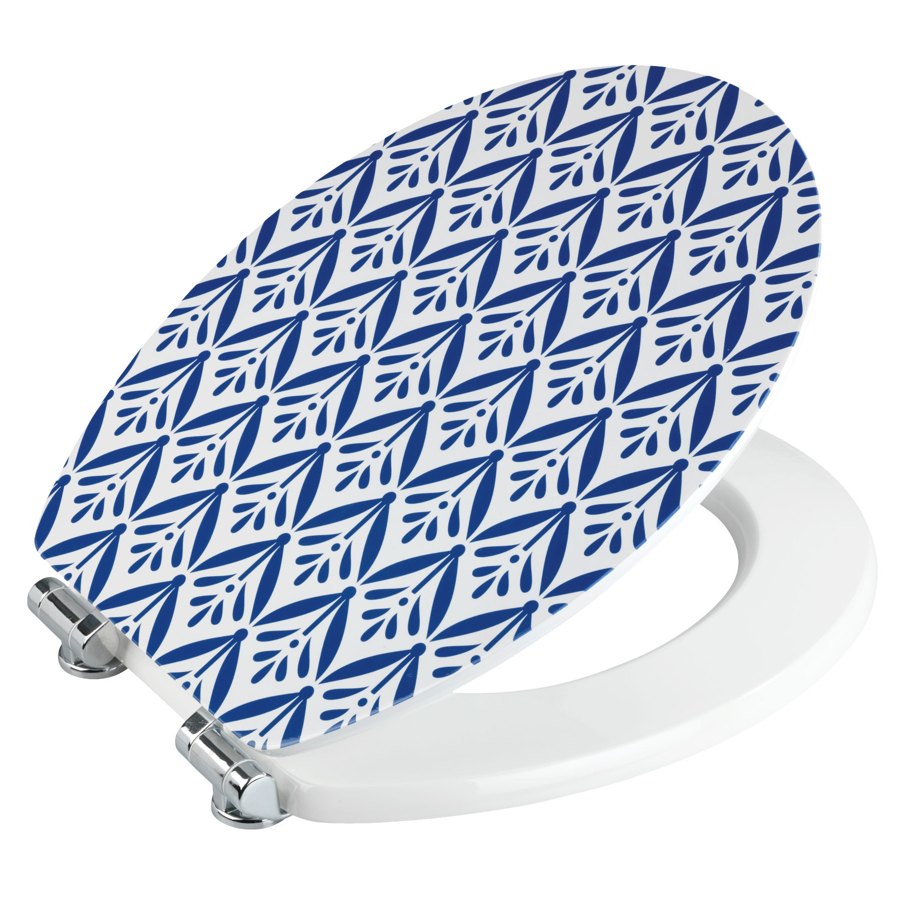Super WC-Sitz Lorca mit Absenkautomatik blau-weiss kaufen - WC-Deckel HW38