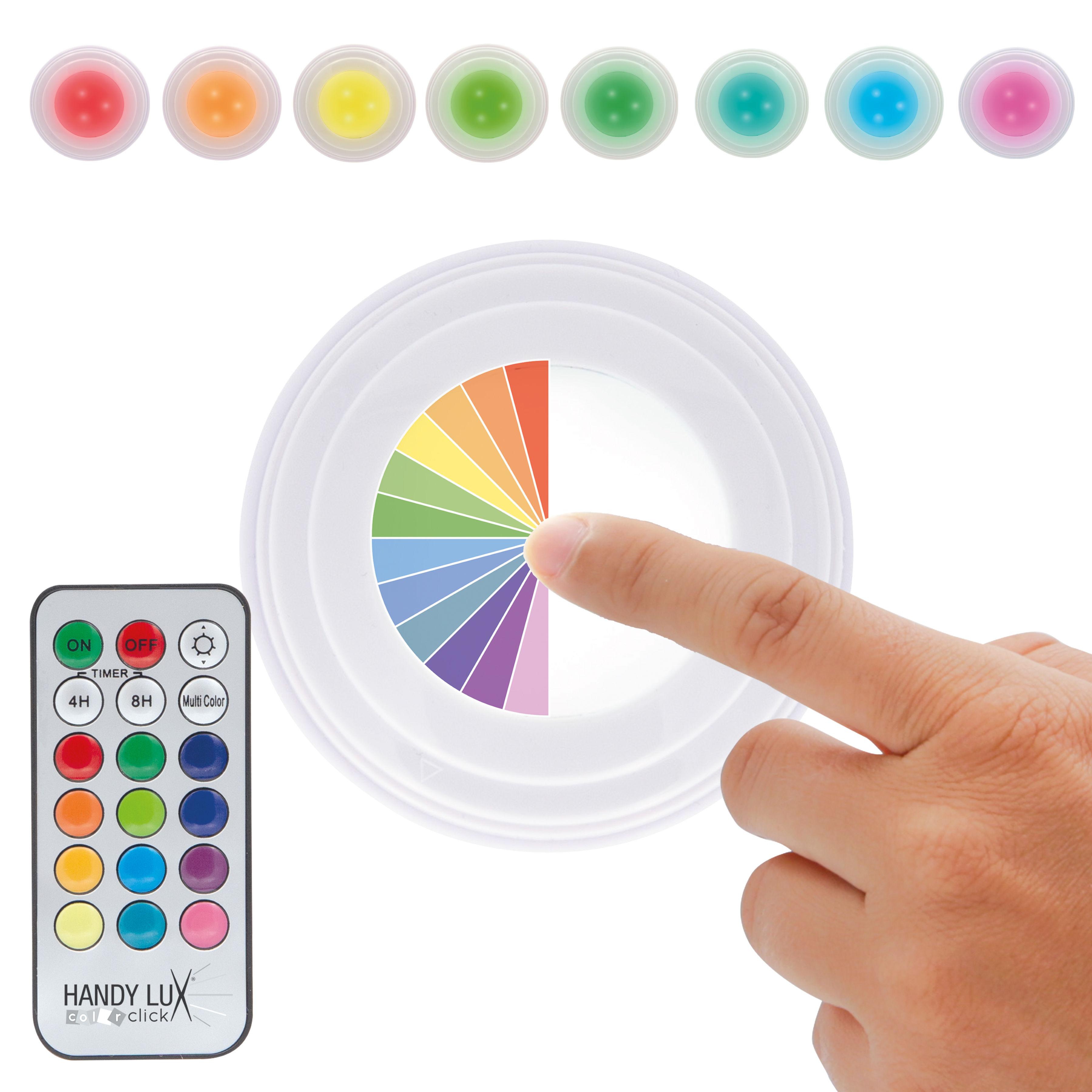 Handy Lux Colorclick Led Leuchte Zum Kleben Mit 12 Farben 5er Set