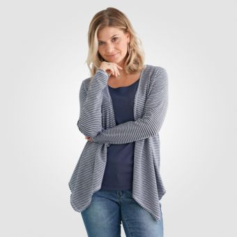artime leichter jersey-cardigan damen im streifen-design