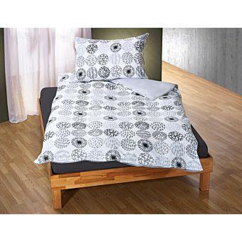 bettw sche mit kreisf rmigen mustern grau weiss g nstig. Black Bedroom Furniture Sets. Home Design Ideas