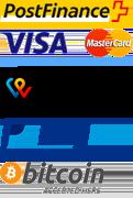 VISA, Mastercard, PostFinance
